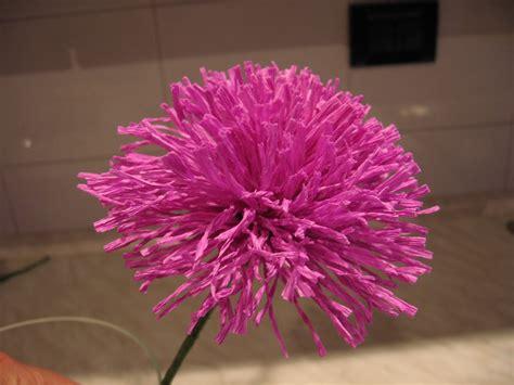Dalla A allo Zucchero: Fiori di carta crespa: come fare una dalia fiore di cactus