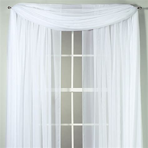 Bed Bath And Beyond Sheer Kitchen Curtains by Voile Sheer Window Curtain Panel And Scarf Bed Bath Beyond