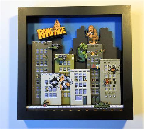 Rampage Shadow Box I Made Gaming Rampage Arcade Game