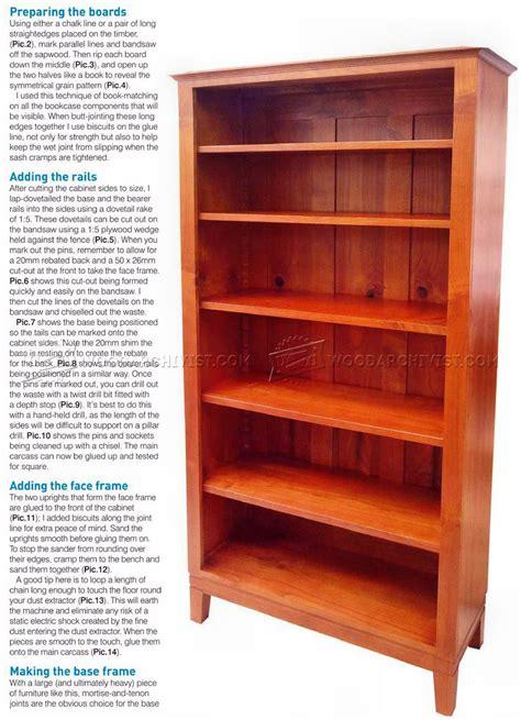 Bookcase Plans • Woodarchivist