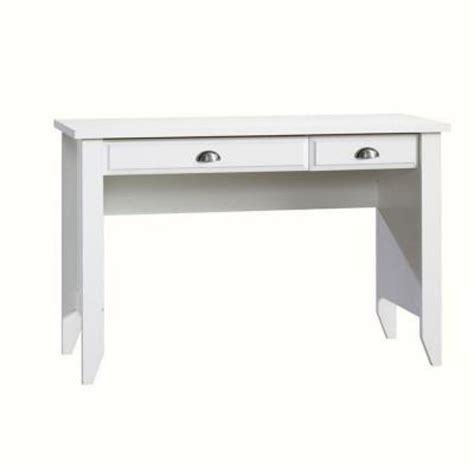 sauder shoal creek collection white computer desk with slide out keyboard shelf 411204 the