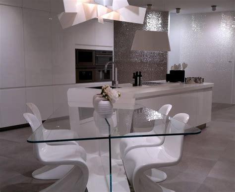 extensible de cuisine salle a manger en verre with ilot central extensible