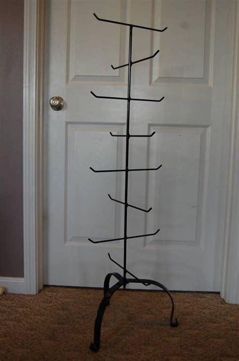 amish hand  standing wrought iron treehanger   longaberger baskets basket wrought