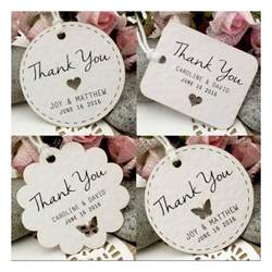 personalized white wedding favor thank you gift tags