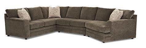 klaussner sectional sofa klaussner ashburn casual sectional sofa olinde s
