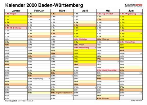 Översiktlig årskalender för 2021, datumen visas per månad inklusive veckonummer. Kalender 2020 Baden-Württemberg: Ferien, Feiertage, Excel ...