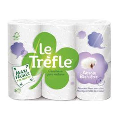le trefle papier toilette le tr 232 fle papier toilette maxi feuille absolu bien 234 tre 6 rouleaux houra fr
