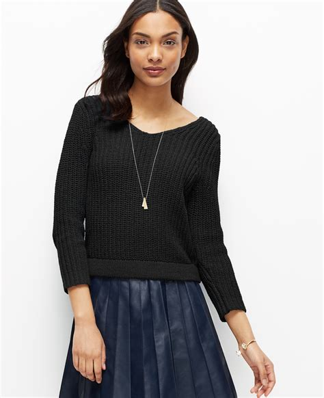 cropped black sweater cropped v neck sweater in black lyst