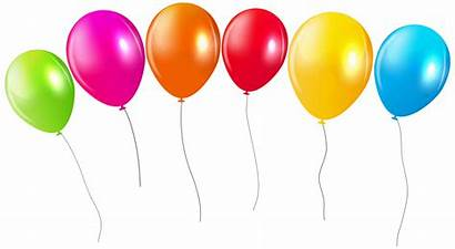 Balloons Balloon Transparent Colorful Clipart Background Birthday