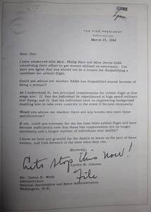 NASA Letter to Hillary Clinton - Pics about space