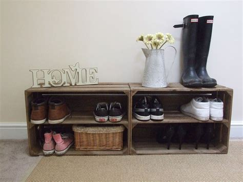 shabby chic shoe storage 2 x shabby chic wooden shoe rack rustic vintage shoe