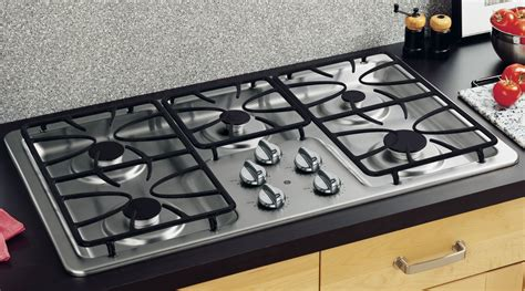 Gas Cooktop by Ge Appliances Jgp633setss 36 Quot Gas Stainless Steel Cooktop