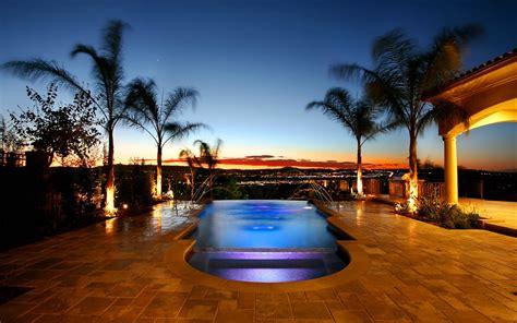 Luxury Pool Resort Romantic Landscape