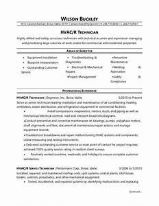 hvac technician resume sample monstercom With hvac technician resume template