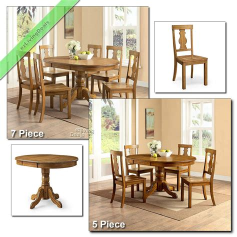 country dining room sets farmhouse table chairs wood  pc
