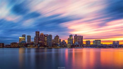 boston skyline wallpaper wallpapertag