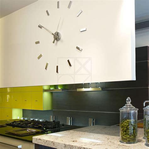 horloge murale cuisine pendule cuisine design diy design moderne numrique 3d