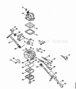 Gb 0510  Stihl Chainsaw Carburetor Diagram Stihl Free