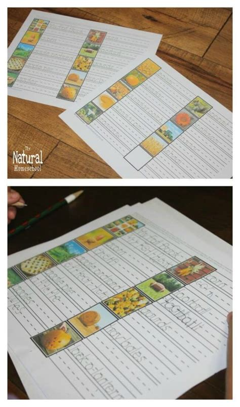 fall printables  kids montessori inspired handwriting