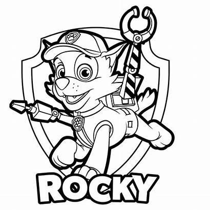 Paw Patrol Rocky Coloring Kleurplaat Badge Kleurplaten