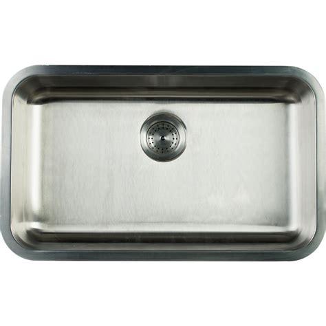 undermount kitchen sinks stainless steel glacier bay undermount stainless steel 30 in single bowl 8730