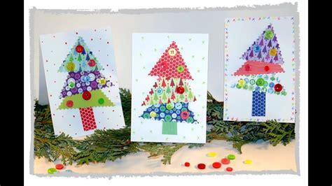 einfaches basteln mit kindern einfache weihnachtskarten basteln mit kindern