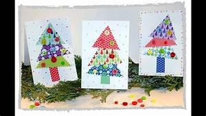 Weihnachtskarten Basteln Grundschule : einfache weihnachtskarten basteln mit kindern youtube ~ Orissabook.com Haus und Dekorationen
