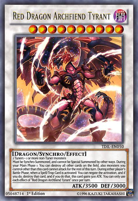 red dragon archfiend tyrant yugioh ocg by yeidenex on