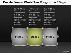 Puzzle Linear Workflow Diagram 3 Stages Best Chart