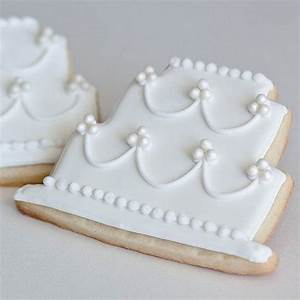 cottage style wedding cake cookie favors bridal shower With wedding cake cookie favors