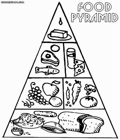 Pyramid Coloring Pages Drawing Printable Groups Getdrawings