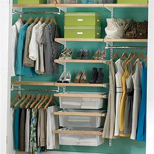 Birch & White elfa décor Chic Reach-In Closet The