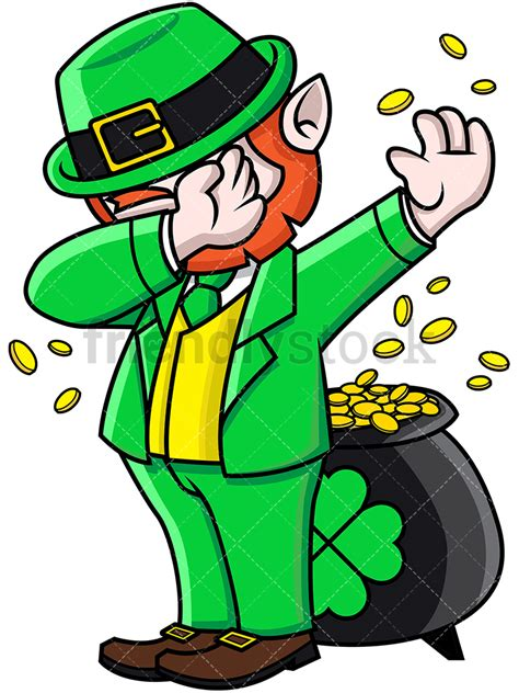 Leprechaun Clip Dabbing Leprechaun Vector Clipart Friendlystock