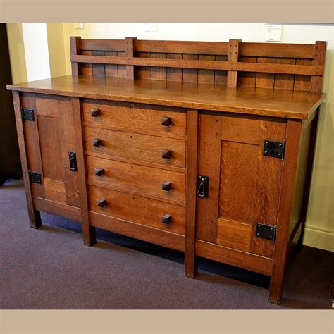 Stickley Sideboard For Sale by Gustav Stickley Eight Leg Sideboard For Sale Dalton S