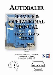 Ti350  Ti500 Operation  U0026 Service Manual