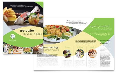 Food Brochure Templates by Food Catering Brochure Template Design