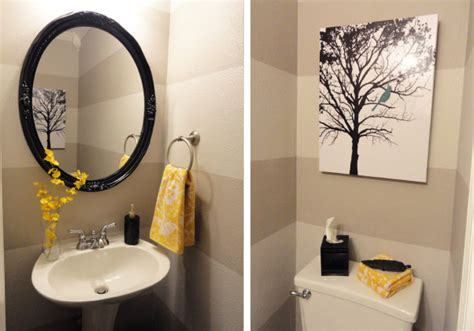 yellow and gray bathroom ideas pondering the powder room