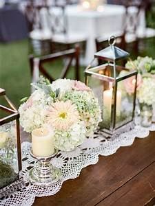 Candle, Lantern, Centerpieces, With, Flowers