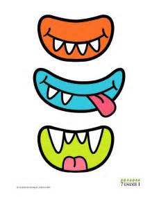 Printable Monster Eyes and Mouth