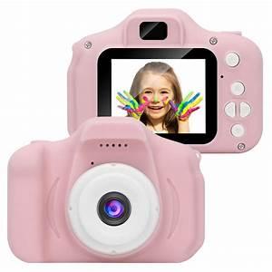 Kids Digital Video Camera Mini Rechargeable Children Camera Shockproof 8MP HD Toddler Cameras ...
