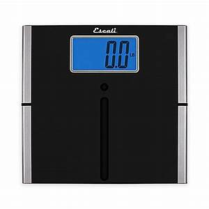 Ultra slim easy read digital bath scale in black bed for Bathroom scales at bed bath and beyond