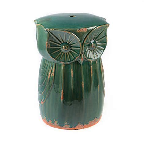 kirklands teal owl ceramic stool customer reviews