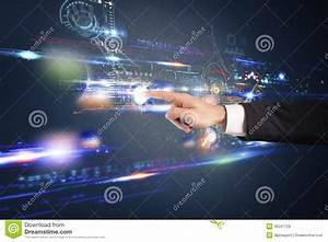 Futuristic Touch Screen Interface Royalty Free Stock ...