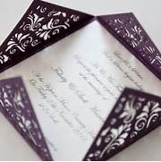 Floral Purple Square Laser Cut Wedding Invitation Lily Invitation Imagine Diy Diy Wedding Invitations Chartula Bespoke Wedding Invitations And Stationery Laser Cut Wedding Invitations White Hollow Rhinestone