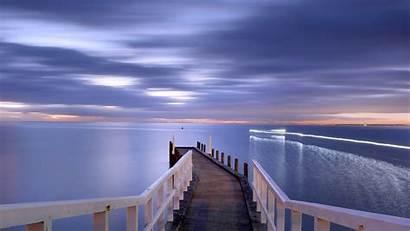 Dock Sunset Background Wallpapers Lovely Bridge Desktop