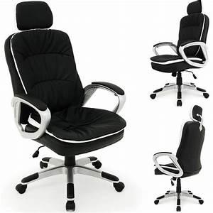 Chaise De Bureau Confortable : chaise de bureau confort repose t te flexible achat vente chaise de bureau noir cdiscount ~ Teatrodelosmanantiales.com Idées de Décoration