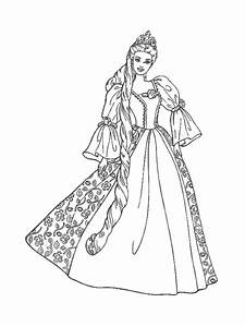 Barbie Princess Coloring Pages | Free Images at Clker.com ...