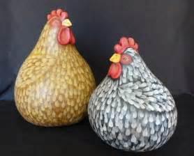 Painted Chicken Gourds