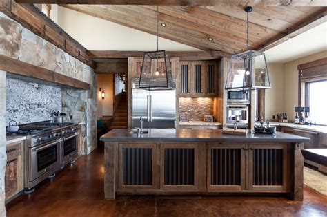 stainless cabinets kitchen juniper rustic kitchen sacramento by high 2463