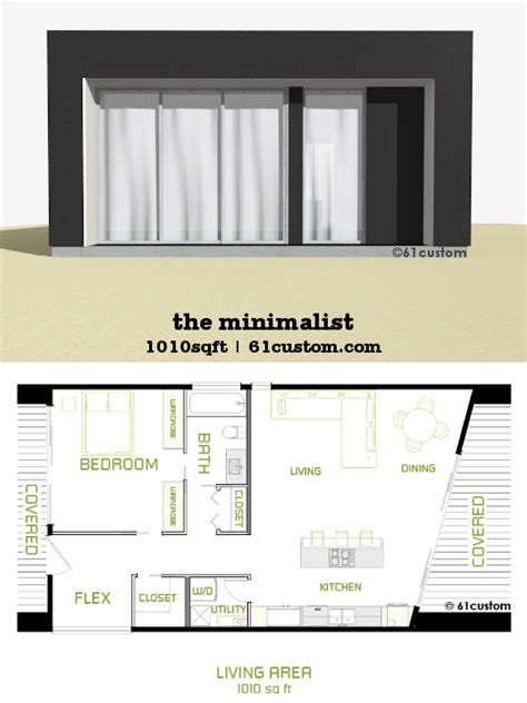 minimalist small modern house plan custom contemporary modern house plans